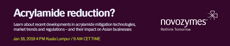 Recent developments in acrylamide mitigation technologies, markets and regulations – and their impact on Asian businesses