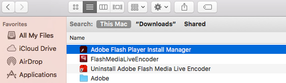 Uninstalling Adobe Flash Player